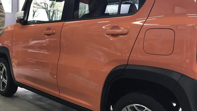 スズキ 新車ハスラー リアドア ヘコミ修理 [見積書付き]