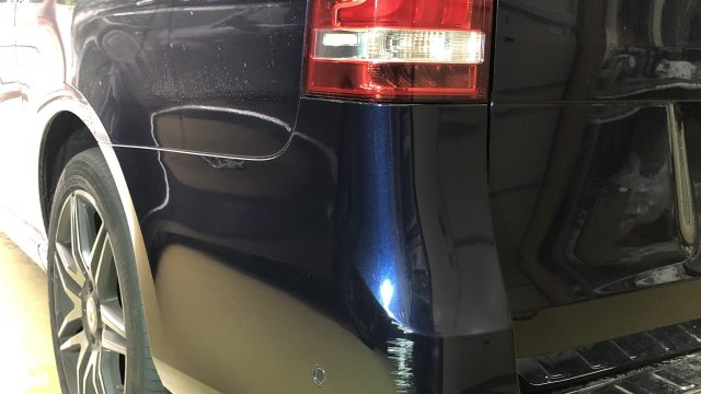 ベンツ V220 リヤバンパー修理[見積書付き]