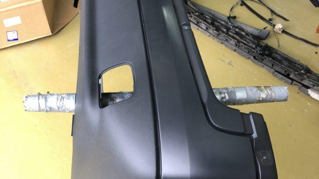 ボルボ V70 バンパー塗装