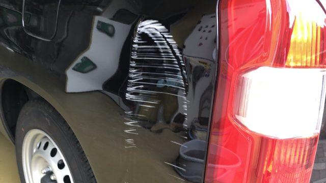 トヨタ サクシード リヤフェンダー修理
