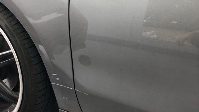 ベンツ GLA フロントドア フロントフェンダー修理