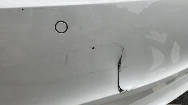 アウディA7 リヤバンパー修理