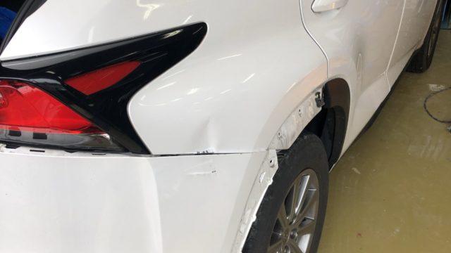 レクサス NX200t リヤフェンダー リヤバンパー修理