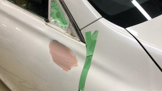 トヨタ マークX フロントフェンダー フロントドア修理