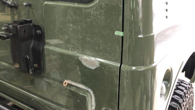 スズキ ジムニー バックドア修理