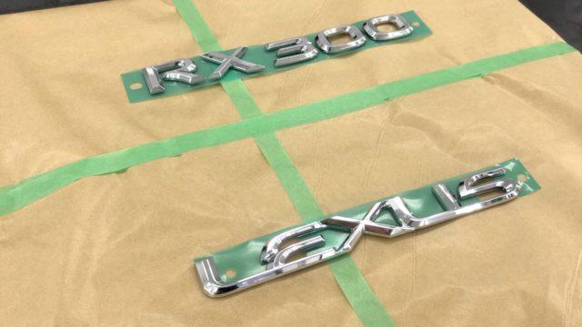 レクサスRX エンブレム塗装