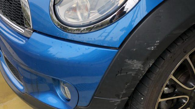 BMW MINIクーパー フロントバンパー交換