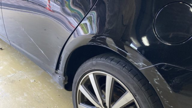 トヨタ プリウス            リヤドア リヤフェンダー修理