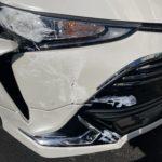 トヨタ エスティマ フロントフェンダー修理 ボンネット修理 バンパー交換