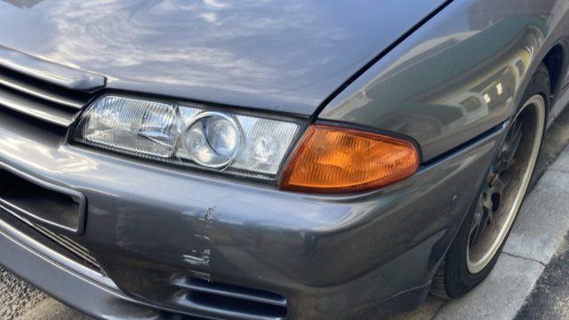 [見積書付き] 日産スカイラインGT-R  R32         フロントバンパー修理