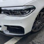 BMW 540i フロントバンパー修理