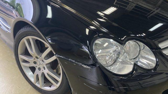 [見積書付き] ベンツ SL350 フロントバンパー修理