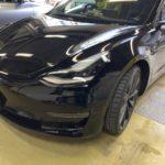[見積書付き]テスラ モデル3 フロントバンパー修理