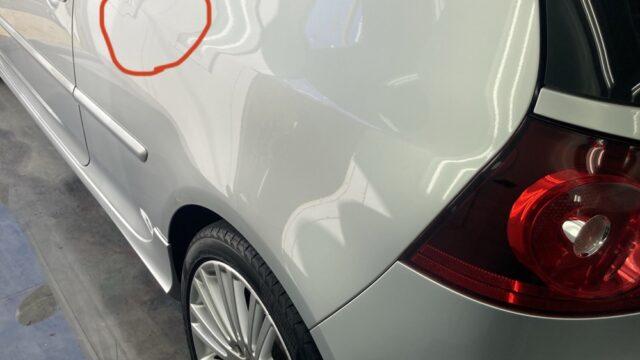 [見積り書付き] VW ゴルフR32 リヤフェンダー修理