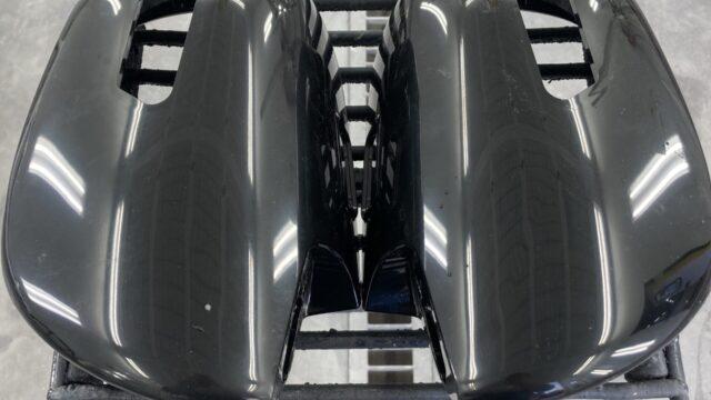 トヨタ ハイエース サイドミラー マットブラック塗装
