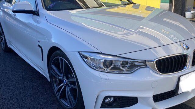 [見積り書付き]   BMW 4シリーズ フロントバンパー左右修理
