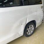 トヨタ ヴェルファイア スライドドア交換 リヤフェンダー修理