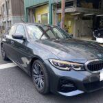 BMW 320i フロントバンパー修理