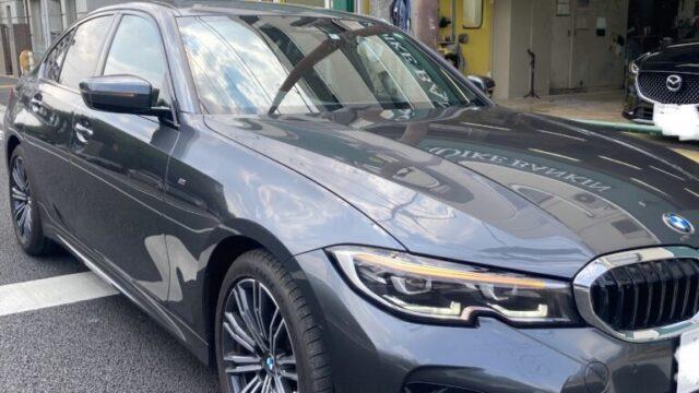 [見積書付き] BMW 320i フロントバンパー修理