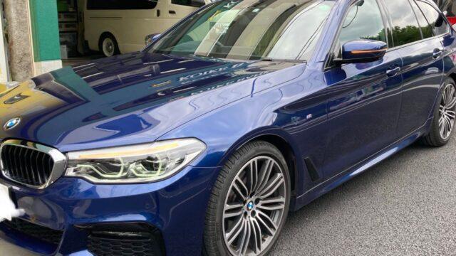 BMW 530i フロントバンパー修理