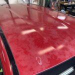 ベンツB180  ボンネット ルーフ バンパー塗装劣化修理