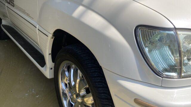 トヨタ ランドクルーザー100 フロントフェンダー リヤフェンダー修理