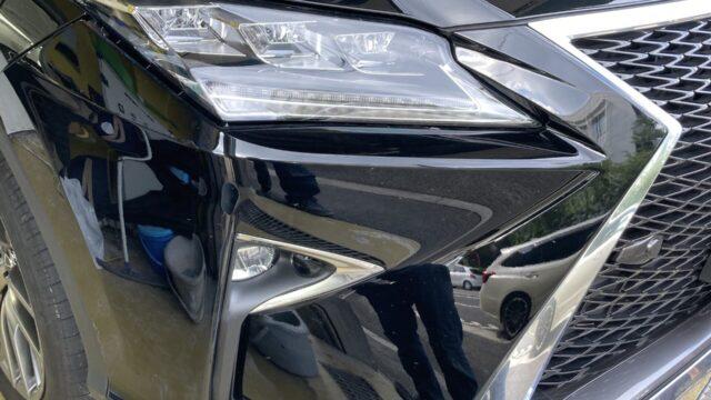 レクサスRX フロントバンパー修理