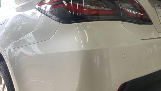 トヨタ クラウン リヤバンパー修理