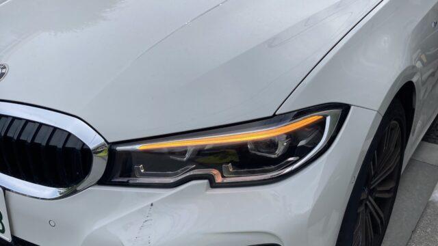 BMW 320d フロントバンパー修理